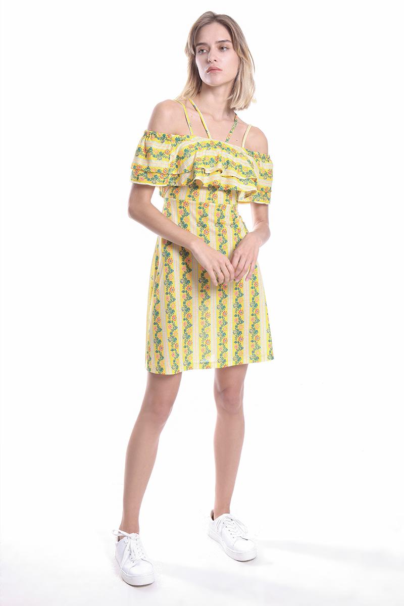 87bedb5ea363 Patterned Off-the-shoulder Dress – DAKOTA